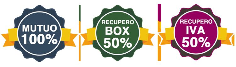 Mutuo 100% - Recupero Box 50% - Recupero IVA 50%